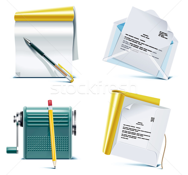 Vector office icon set. Part 1 Stock photo © tele52