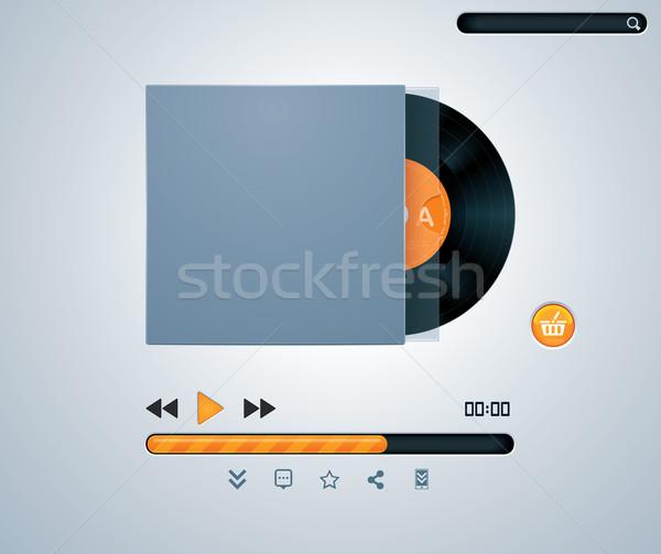 Vector vinyl disk in envelope music player  Stock photo © tele52