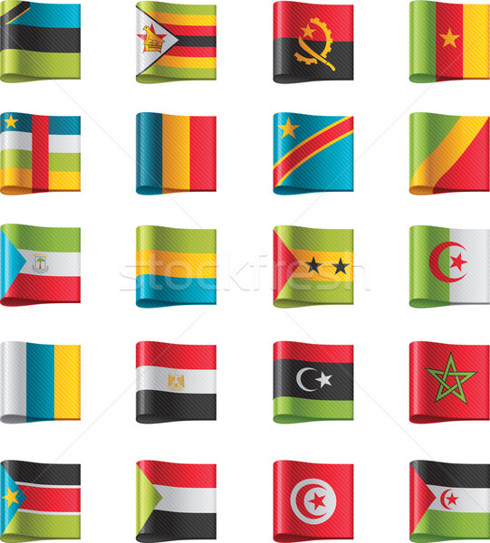 Vector flags. Africa, part 10 Stock photo © tele52