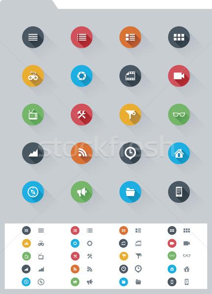ストックフォト: 要素 · セット · 単純な · アイコン