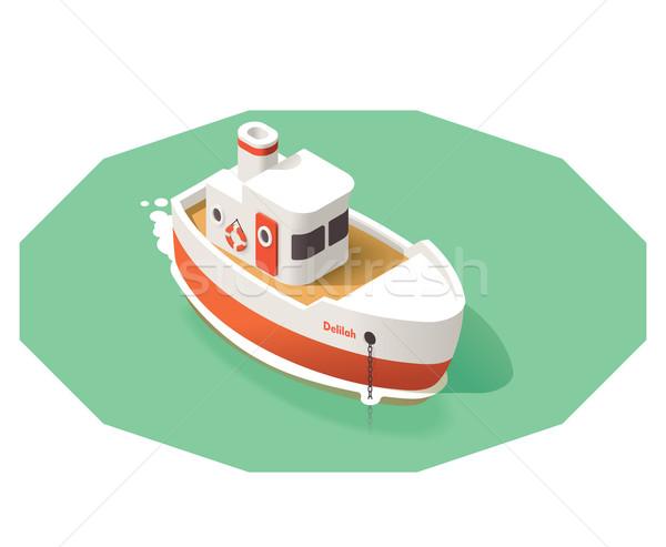 Vector isometric ship Stock photo © tele52