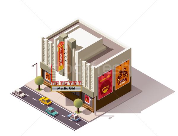 Vector isometric cinema Stock photo © tele52