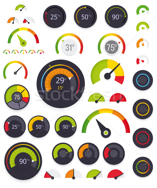Vektor szett színes terv technológia felirat Stock fotó © tele52