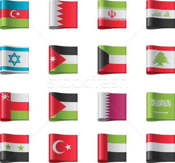 Stock photo: Vector flags. Asia, part 8