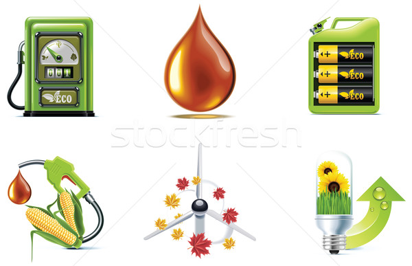 Vector ecology icon set. Part 1 Stock photo © tele52