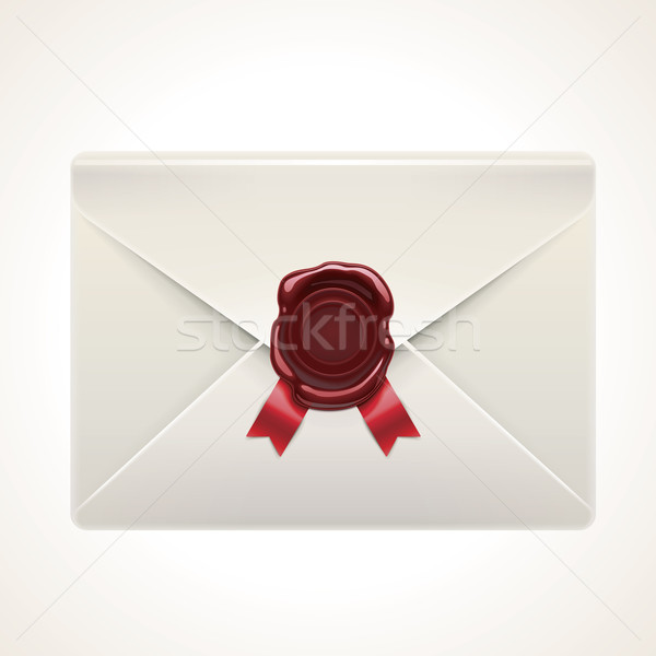 Vector retro envelop icon gedetailleerd Stockfoto © tele52