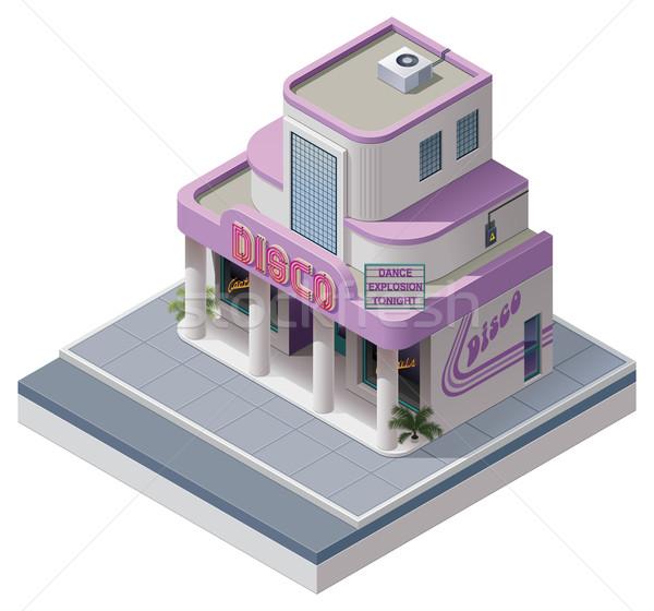 ベクトル アイソメトリック ナイトクラブ 建物 詳しい アイコン ストックフォト © tele52