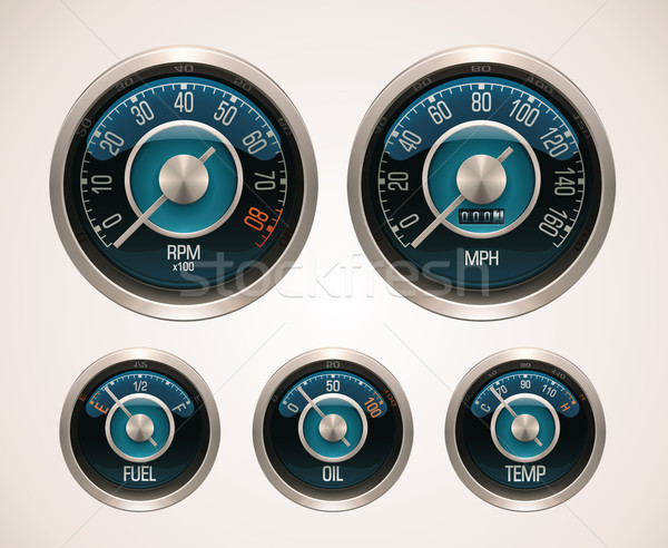 Vector retro car gauges Stock photo © tele52