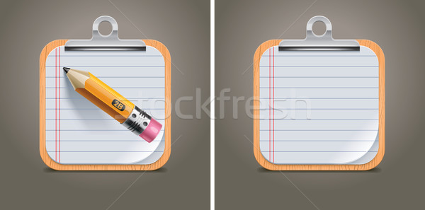 Vector clipboard square icon Stock photo © tele52