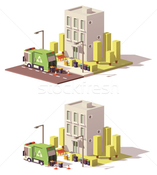 Vector low poly building icon Stock photo © tele52