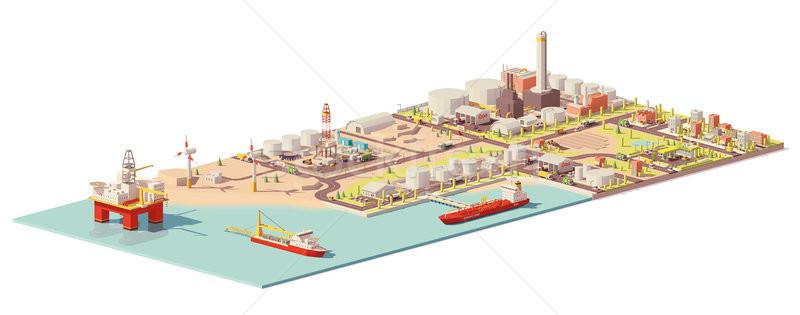 Vektor olaj fogyasztás infografika alacsony offshore Stock fotó © tele52