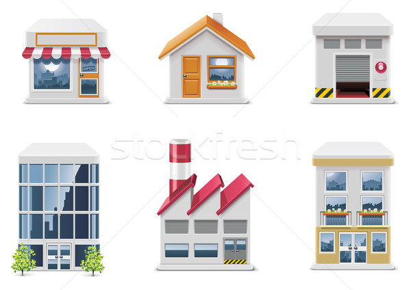Vector real estate icons. Part 1 Stock photo © tele52
