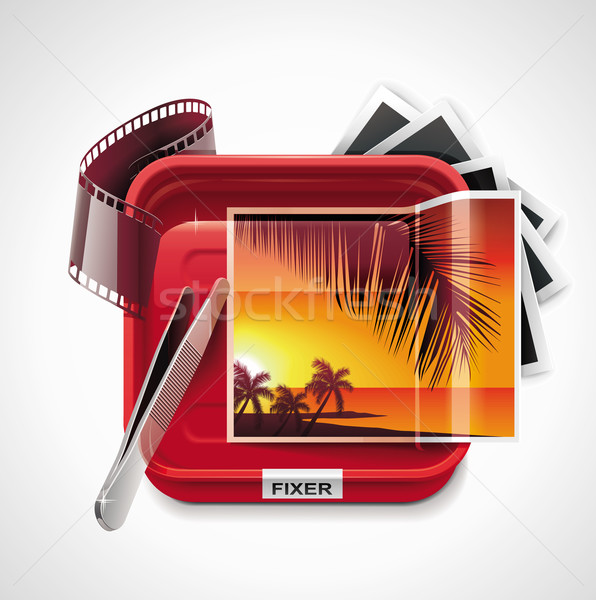 Vector photographic processing XXL icon	 Stock photo © tele52
