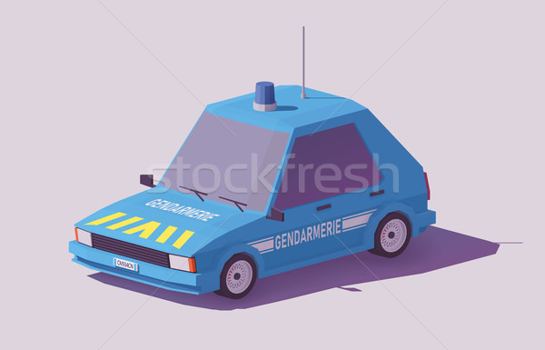 Vector low poly French gendarmerie car Stock photo © tele52