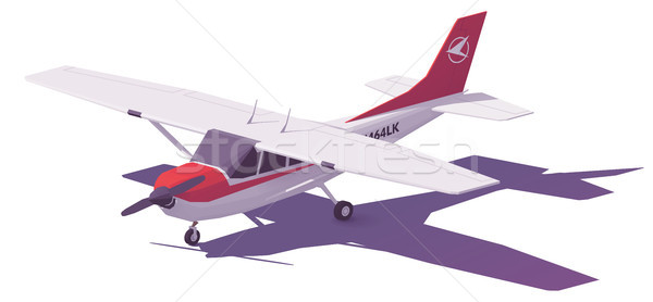 Vector low poly small airplane Stock photo © tele52