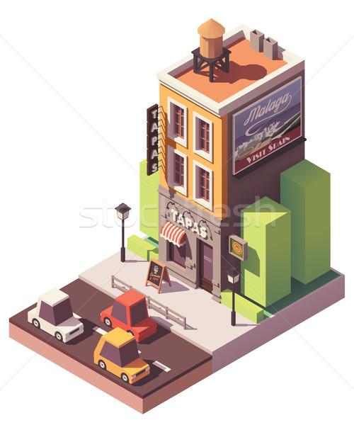 Stock photo: Vector isometric tapas restaurant