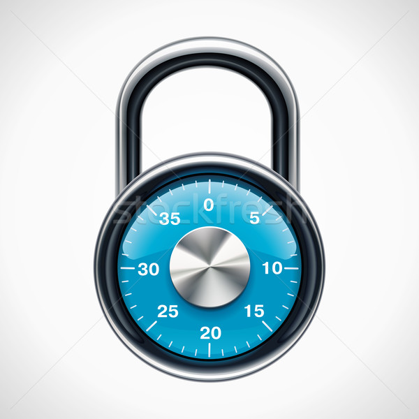 Vector combination padlock Stock photo © tele52