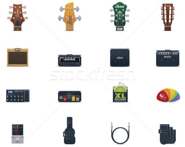 Vector guitar equipment icon set Stock photo © tele52