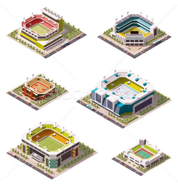 вектора изометрический набор различный дома город Сток-фото © tele52