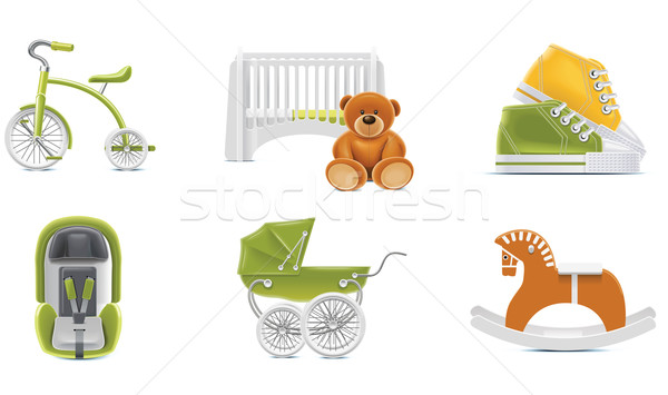 Vector baby icons. Part 2 Stock photo © tele52
