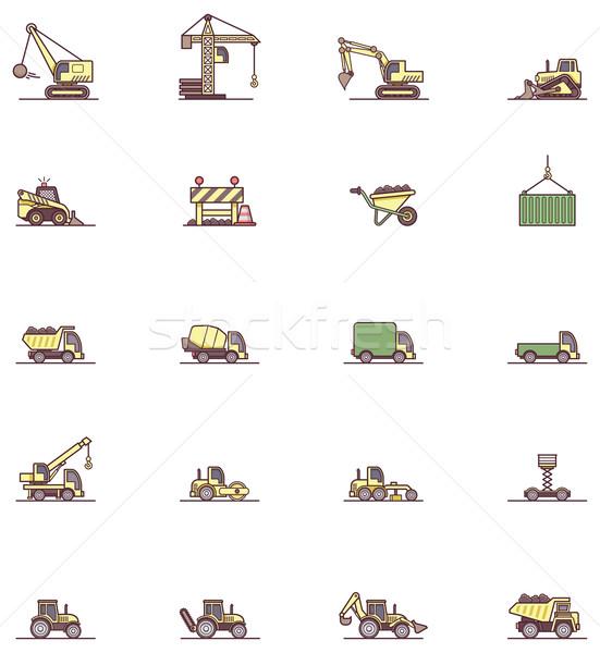 建設 機械 セット 家 作業 ストックフォト © tele52