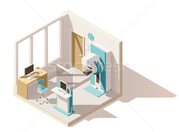 Vector isometric low poly mammography room Stock photo © tele52