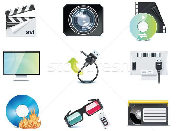 Vector video icons. Part 4 Stock photo © tele52