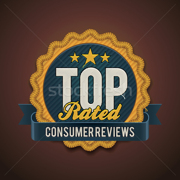 Vector top rated badge Stock photo © tele52