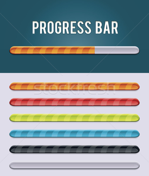 Vetor progresso bar conjunto vítreo barras Foto stock © tele52