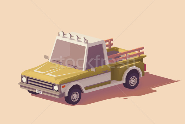 Vector low poly pickup truck Stock photo © tele52