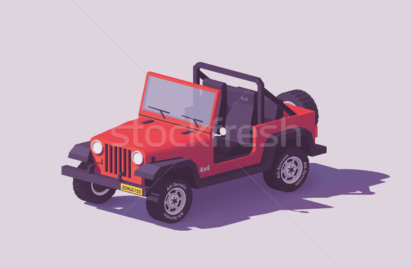 Vector low poly off-road 4x4 SUV car Stock photo © tele52