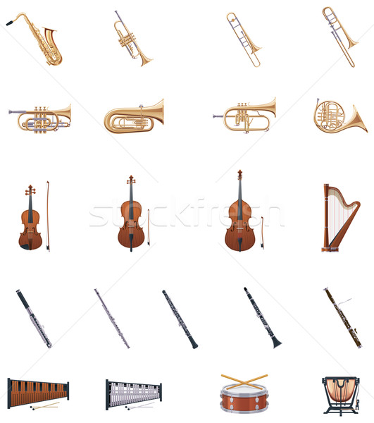 Vector Instruments of the Orchestra Stock photo © tele52
