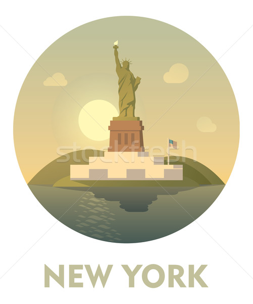 New York icon vector stad landschap Stockfoto © tele52