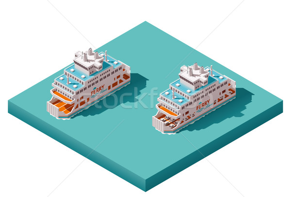 Vector isometric ferry Stock photo © tele52