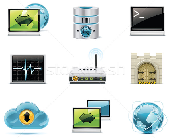 Vector internet and network icons. Part 1 Stock photo © tele52