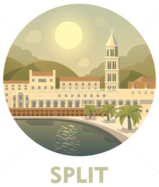 Travel destination Split  Stock photo © tele52