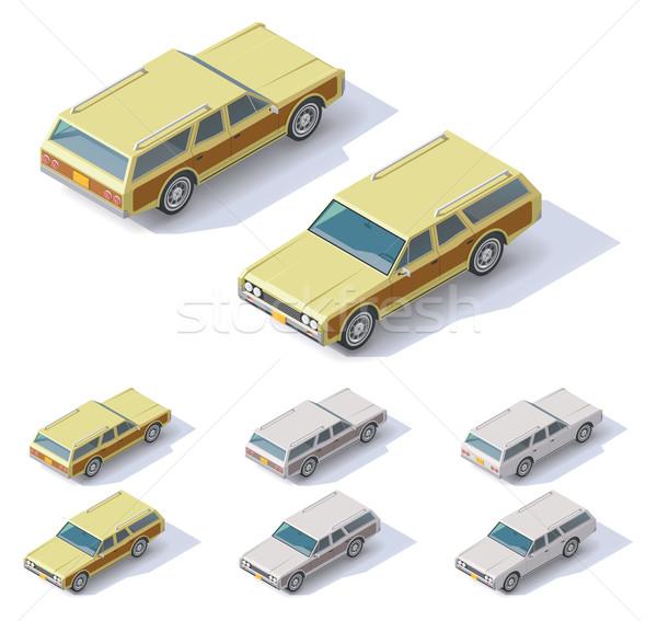 Vector isometric cars Stock photo © tele52