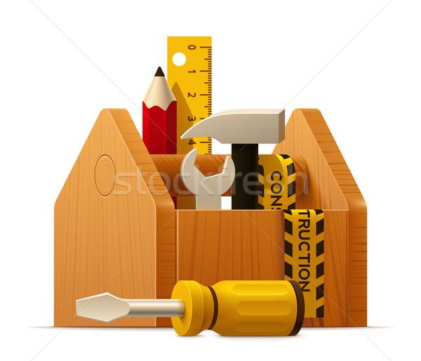 Stok fotoğraf: Vektör · ahşap · araç · araçları · ikon · kalem