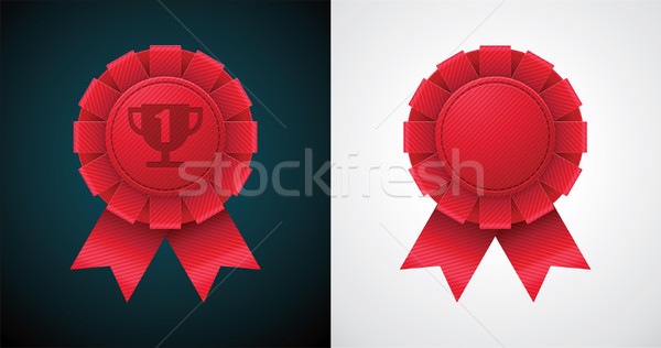Vector award badge with ribbon Stock photo © tele52