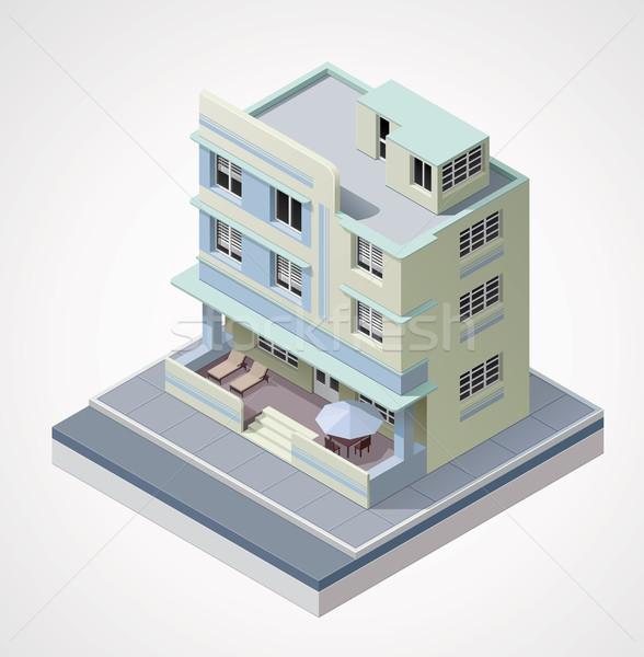 Vector edificio detallado icono art deco Foto stock © tele52