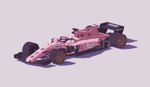 Vector low poly formula racing car Stock photo © tele52