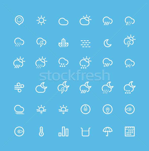 Weather icon set Stock photo © tele52
