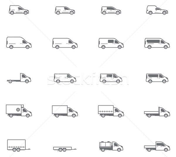 Vector commercial transport icons Stock photo © tele52