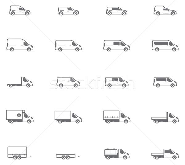 Wektora handlowych transportu inny pojazdy Zdjęcia stock © tele52