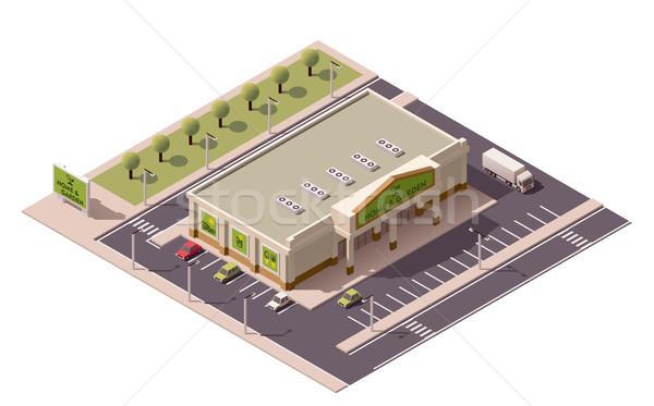Vector isometric shopping mall Stock photo © tele52