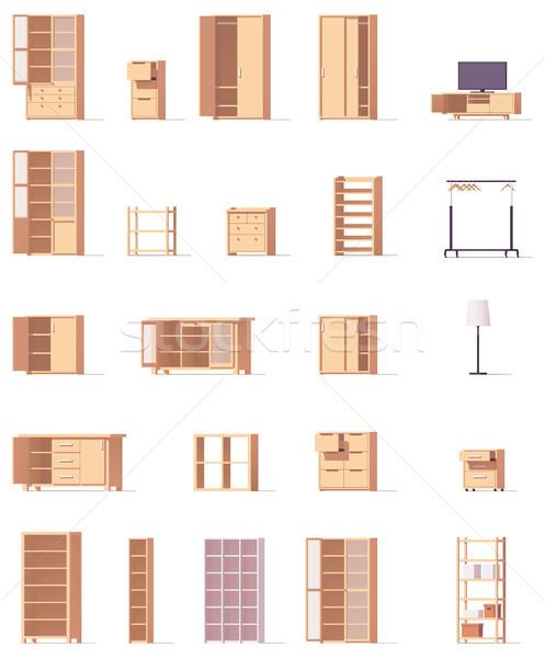 Vector cabinets set Stock photo © tele52