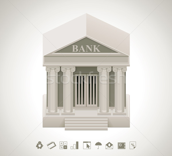 Vector bank icon Stock photo © tele52