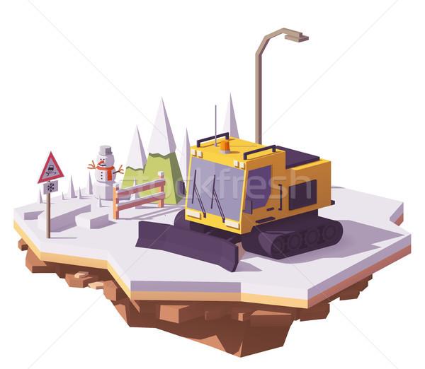 Vektör düşük kar Kayak başvurmak Stok fotoğraf © tele52