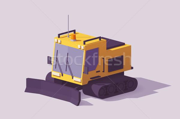 Vector low poly snowcat Stock photo © tele52