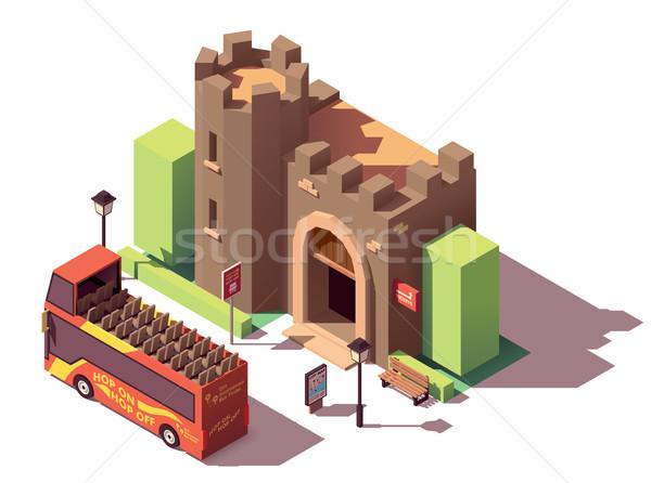 Vector isometric tourist attractions Stock photo © tele52